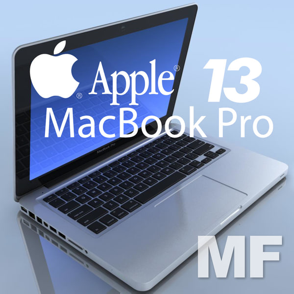 3dsmax notebook apple macbookpro 13 - Notebook.APPLE MacBookPro 13.MF... by 3DLocker