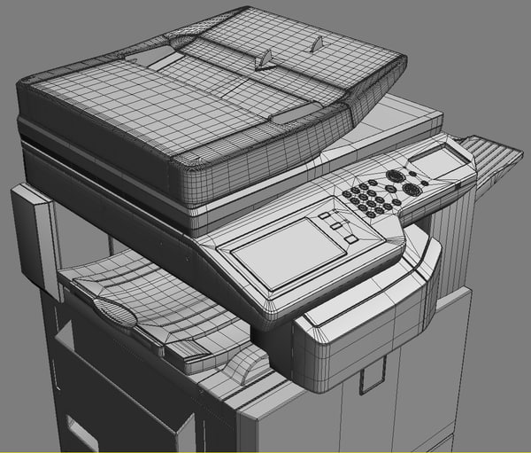 mfp sharp mx-2310u 3d model - MFP SHARP MX-2310U (2)... by iljujjkin