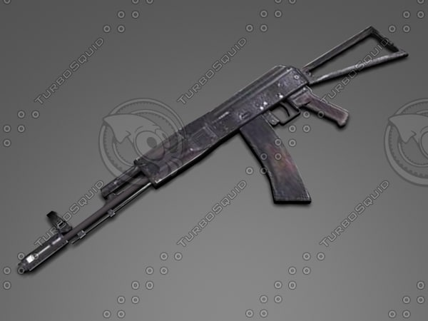 3d aks-74 model
