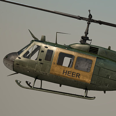 uh-1h air force 3d model