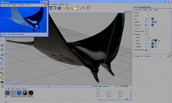 3ds manta giant - Giant Manta Ray... by POPA_3D