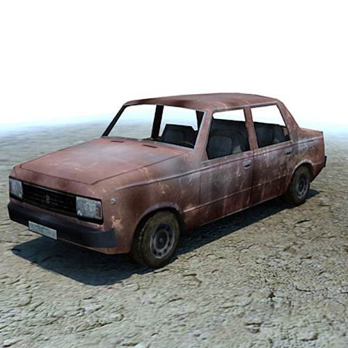 3d ready wrecked car ruins model - Wreck wrecked car ruined wreak... by 3D_Multimedia