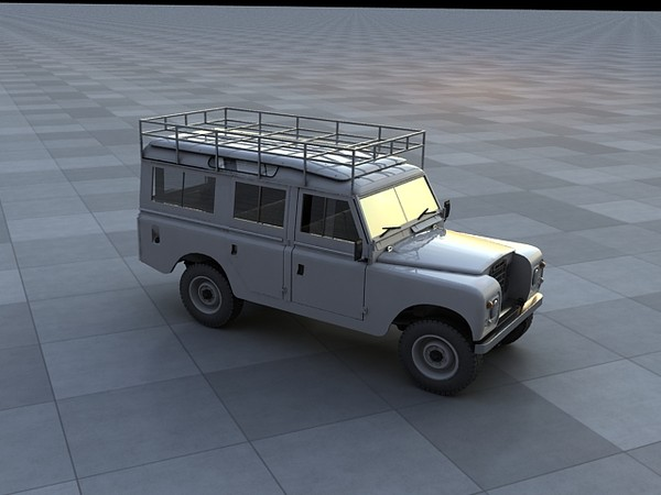 109 wagon 5-door 3d model - Land Rover 109... by S.E