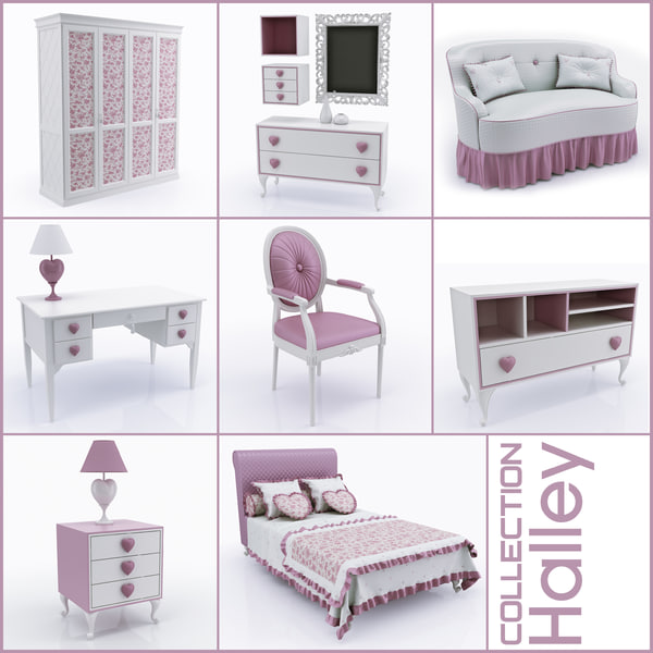 3dsmax children s furniture halley