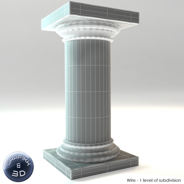 3d model marble column - Marble Column... by PolyTron