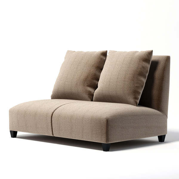 3d - realistic model - Donghia - Villa armless club sofa... by dimosbarbos