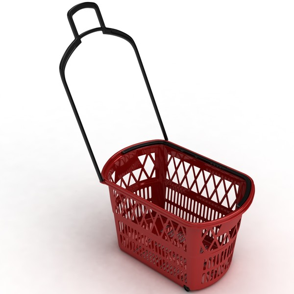 supermarket basket 3d max - Supermarket basket... by coboide