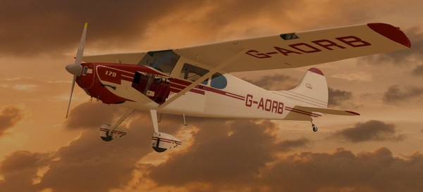 cessna 170 3d model - Cessna Model 170... by Insect.Digital.Alchemy