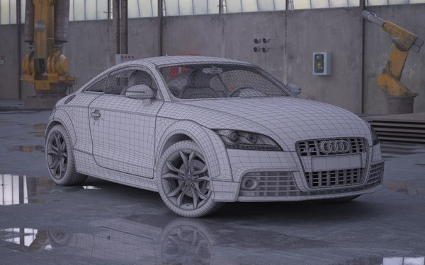 3d model of car audi tts - Audi TTS... by evermotion
