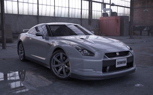 car nissan gtr 3d model