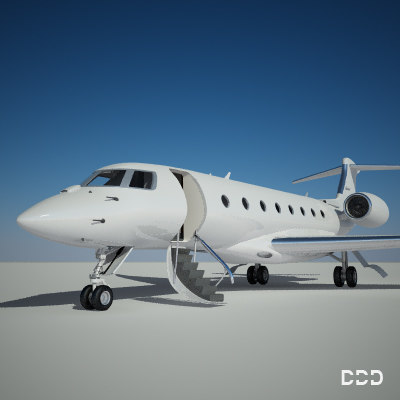 3d private gulfstream model