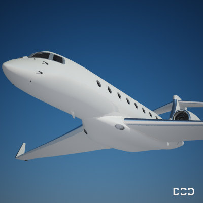 3d private gulfstream model - gulfstream g650 st2... by OODINDD