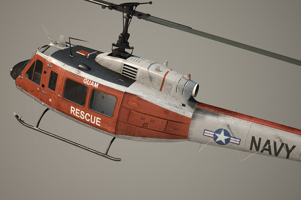 uh-1h navy 3d lwo - uh-1h us navy... by OODINDD