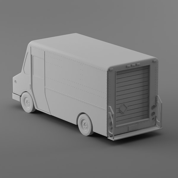 courier delivery truck dhl 3d 3ds - Popular DHL Courier truck Morgan Olson van... by Leeift