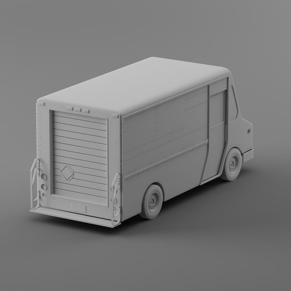 courier delivery truck morgan 3d model - FEDEX Courier truck Morgan Olson van... by Leeift