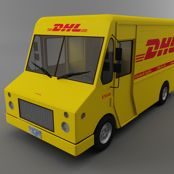 Popular DHL Courier truck Morgan Olson van