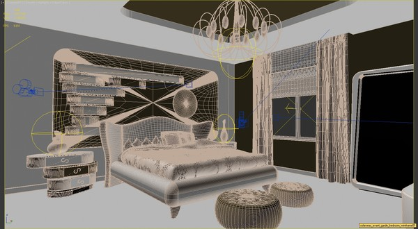 3ds max scene modern bedroom interior - Bedroom Modern Deco... by solarseas