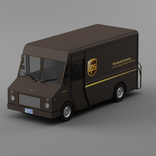 UPS Courier truck Morgan Olson van