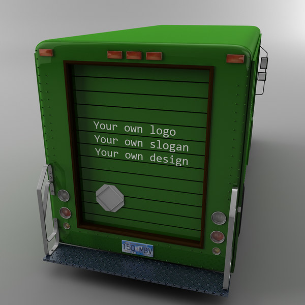 3d model courier delivery truck canada - Canada post Courier truck Morgan Olson van... by Leeift