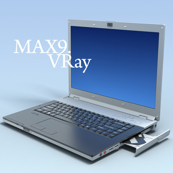 notebook sony vaio vgn-fz11sr 3d model - Notebook SONY Vaio VGN-FZ11SR MF... by 3DLocker