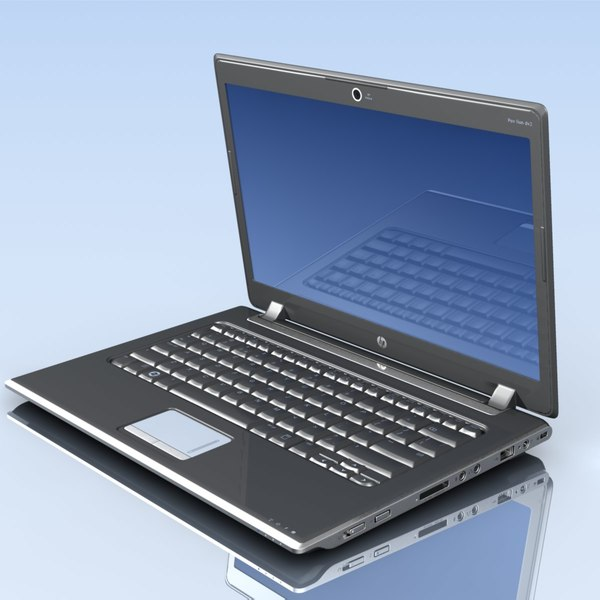 notebook hp pavilion dv2 3d model - Notebook.HP.Pavilion DV2.MF... by 3DLocker