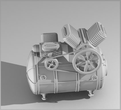 3d compressor model - Compressor... by Litarvan