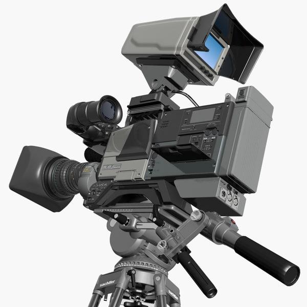 3d model camcorder sony-canon-ikegami btc sachtler