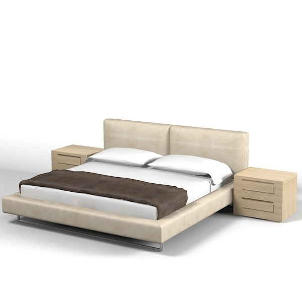 3d bed night stand model