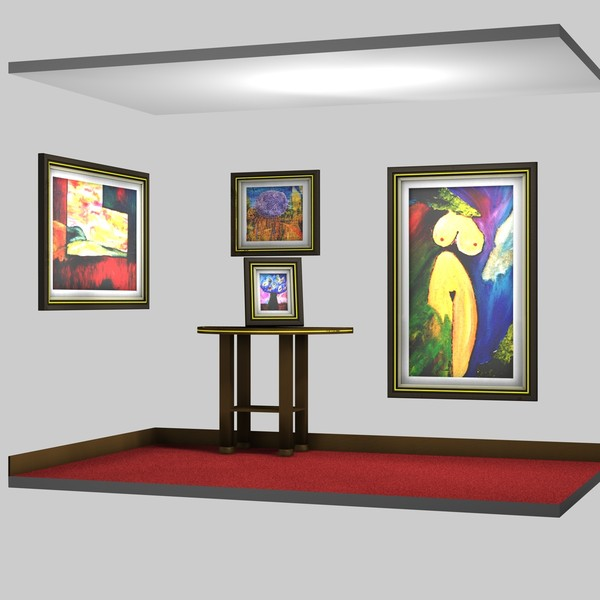 set picture frames art c4d free - set of picture or art frames... by RuiBonacho