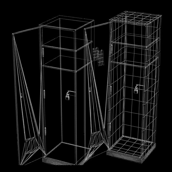 locker metal gym 3ds - Metal Gym Locker Textured... by Litarvan