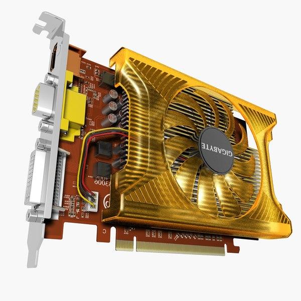 videocard gigabyte gv-n220oc mf 3d model