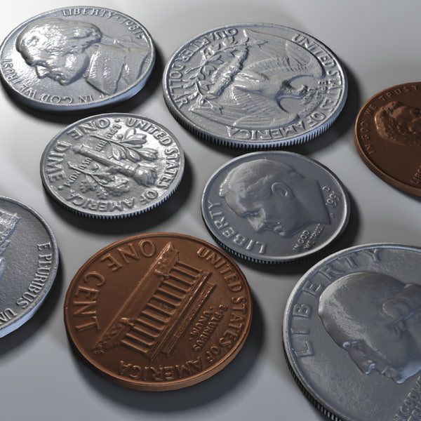 c4d photo realistic coins