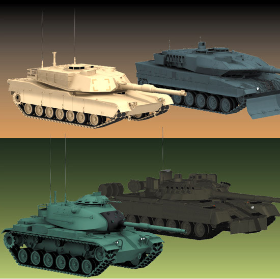 lwo 5 tanks - DOSCH 3D: Military - Tanks (Lightwave 6.5 and above)... by Dosch Design