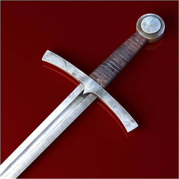 medieval sword 3d 3ds