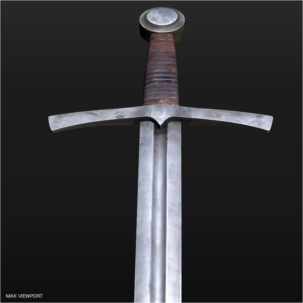 medieval sword 3d 3ds - Medieval Sword... by illusionist3d