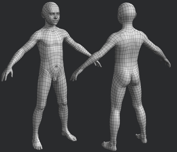 3d ben 9-13 boy rigged model - Ben, 9-13 yo boy, rigged... by dmk76