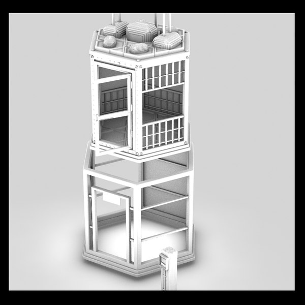3d elevator old model - old elevator textured... by Litarvan
