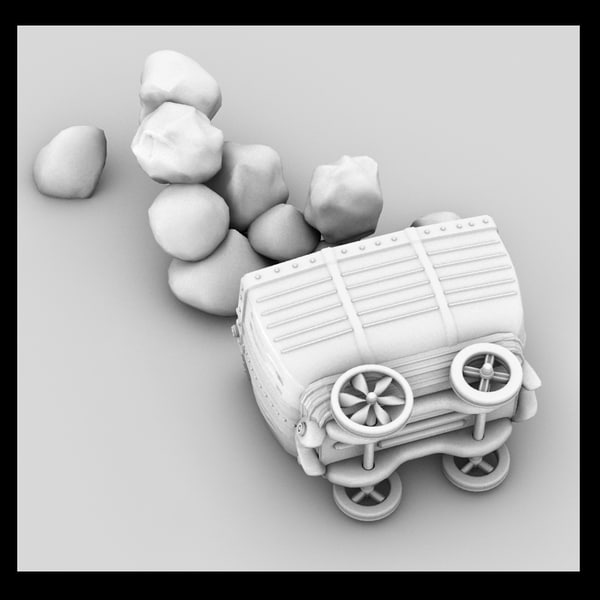 3d model cart - cart... by Litarvan