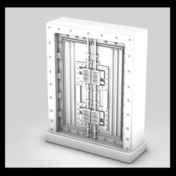 metal door 3d max - metal door 4... by Litarvan