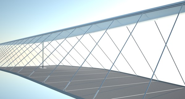 rhino designer suspension bridge - Futuristic Suspension Brige V001... by Deresolution