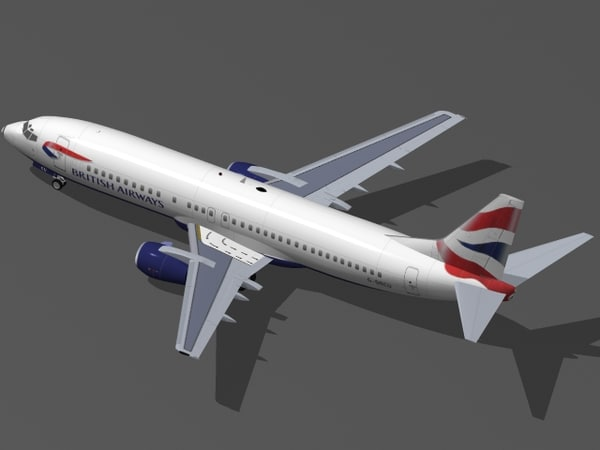 3d b 737-400 british airways model - B 737-400 British Airways... by PedroFaut