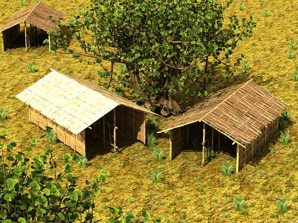 bamboo house textured