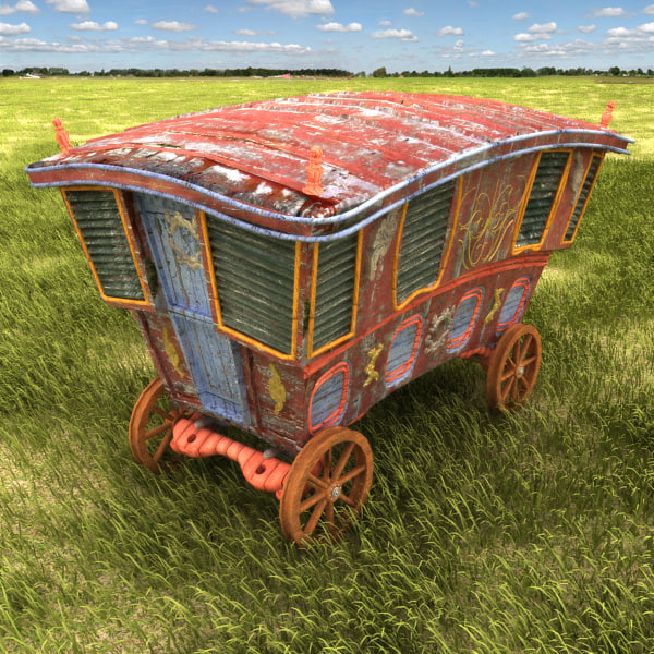 3d caravan van car model - Caravan textured... by Litarvan