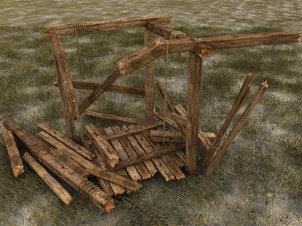 wooden wood beam 3d model - wooden beams constructions textured collection... by Litarvan