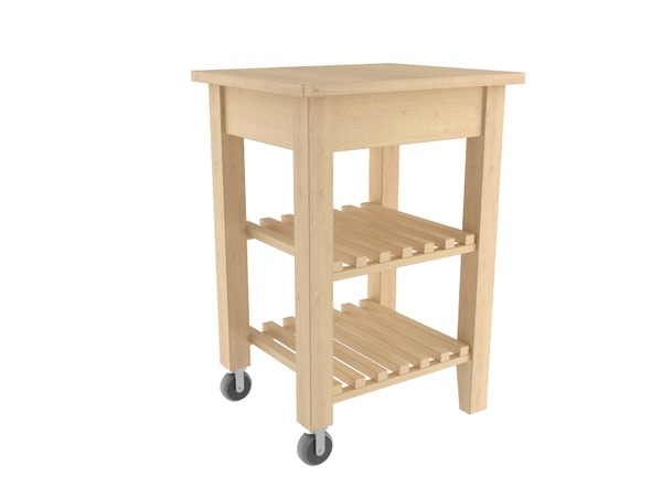 Cart table 3d model for Bekvam kitchen cart