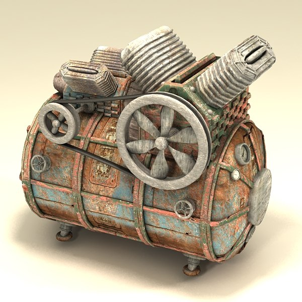 3d model of compressor