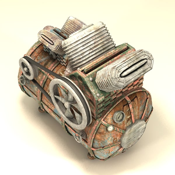 3d model of compressor - Compressor textured... by Litarvan
