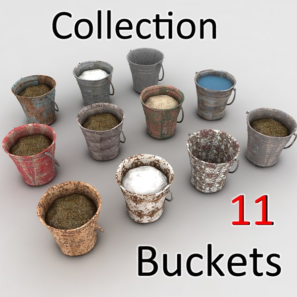 metal bucket textured