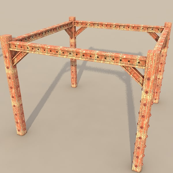 3ds metal girder - metal girder textured... by Litarvan