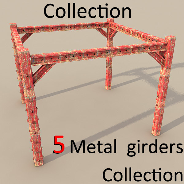 metal girder textured